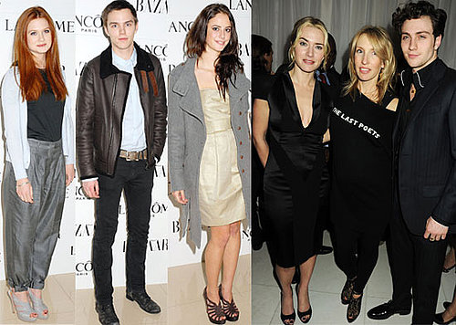 Photos of Kate Winslet, Kaya Scodelario & Elliott Tittensor, Nicholas Hoult, Aaron Johnson & Sam Taylor-Wood at Pre BAFTA Party