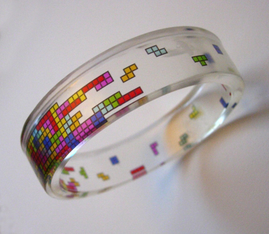 Clear Tetris Bangle ($25)