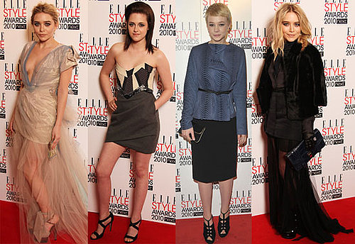 Photos of Kristen Stewart, Ashley Olsen, Mary-Kate Olsen and Carey Mulligan at the 2010 Elle Style Awards in London 2010-02-22 22:30:03