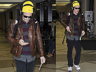 Photos of James Franco, Who's Film The Feast of Stephen Won Best Short Film at The Berlin Film Festival, Arriving at LAX