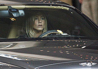 Photos of Jennifer Aniston Driving Her Bentley in LA
