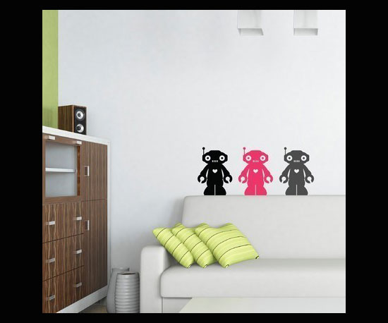 Robot Decals ($19 For Three)
