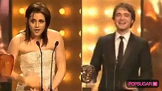 Robert Pattinson at the BAFTA Awards and Kristen Stewart at the BAFTA Awards