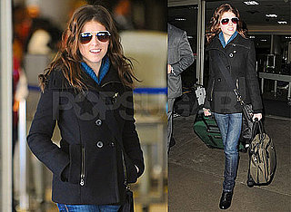 Photos of Anna Kendrick at LAX After Attending BAFTA Awards With Robert Pattinson and Kristen Stewart