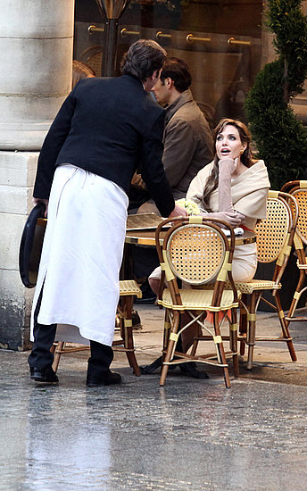 Angelina Jolie works on ''The Tourist'' in Paris