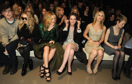 Front Row at Burberry at London Fashion Week