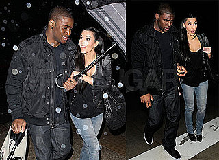 Photos of Kim Kardashian and Reggie Bush at Ralph Lauren in Beverly Hills Wearing Leather Jackets