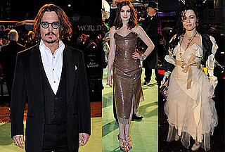 Photos of Johnny Depp, Anne Hathaway, Mia Wasikowska at the Royal Premiere of Alice In Wonderland in London