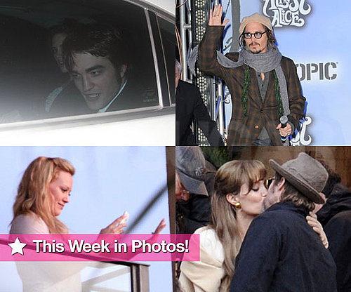 Slideshow of Photos of Robert Pattinson and Kristen Stewart and Brad Pitt and Angelina Kissing