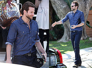 Photos of Bradley Cooper Leaving E! Studios With a Big Swag Bag in LA
