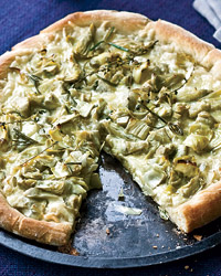 Artichoke and Fontina Pizzas