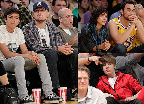 Photos of Leonardo DiCaprio and Jessica Alba Sitting Courtside at the LA Lakers Game