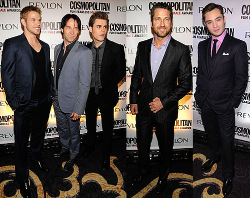 Photos of Kellan Lutz, Paul Wesley, Ed Westwick, Gerard Butler and Stephen Moyer at Cosmopolitan Party 2010-03-02 14:30:17