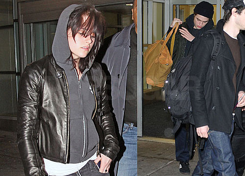 Photos of Robert Pattinson, Kristen Stewart Arriving in NYC Ahead of Robert's Remember Me Press Weekend