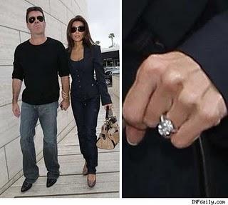 Simon Cowell's future Wife Shows off Massive Rock