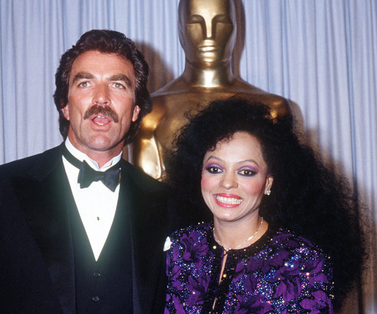 1985: Tom Selleck and Diana Ross