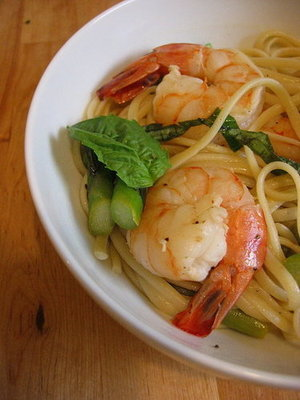 Asparagus and Shrimp Pasta