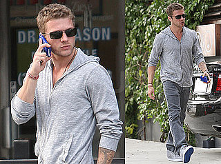 Photos of Ryan Phillippe Talking on the Phone  in LA After His Breakup With Abbie Cornish