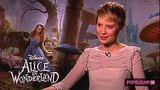Mia Wasikowska Interview About Working With Johnny Depp in Alice in Wonderland