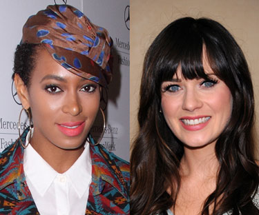 Solange Knowles and Zooey Deschanel Named Rimmel Spokeswomen