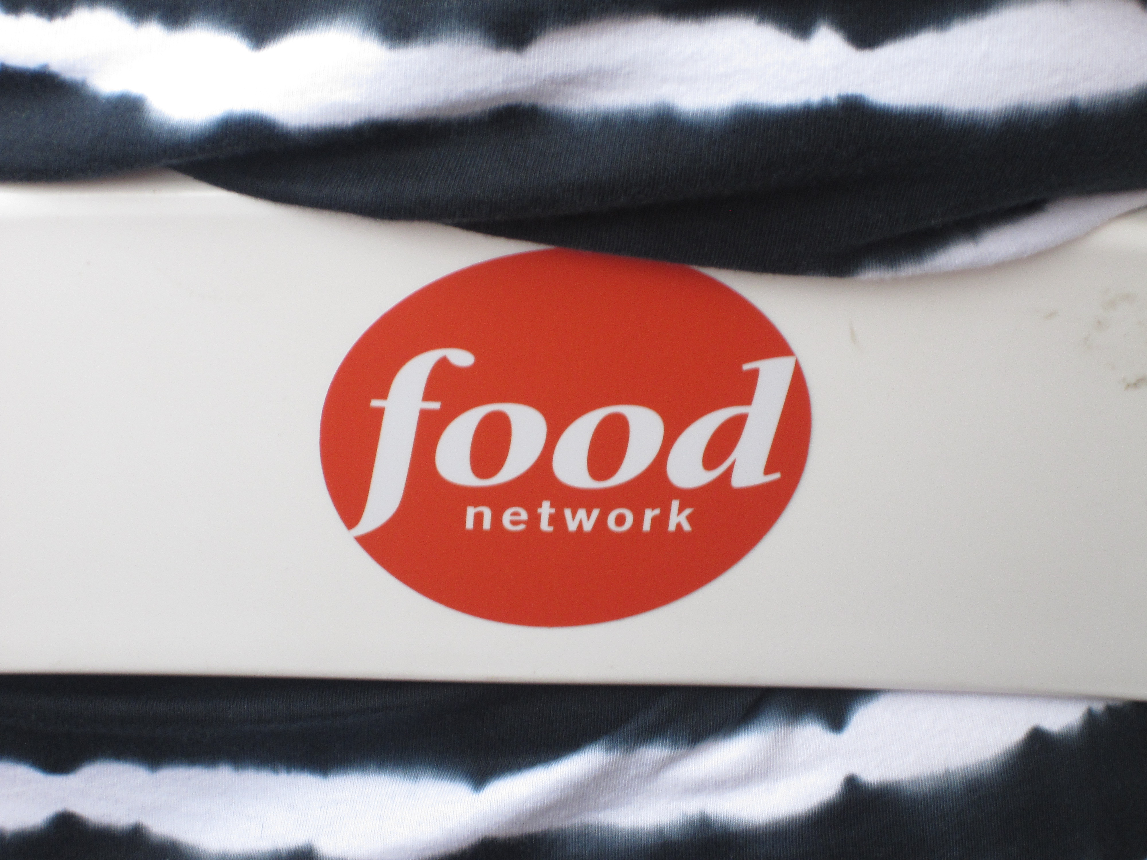 The Food Network logo was everywhere — including the back chairs.