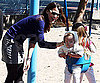Slide Photo of Jennifer Garner and Seraphina at the Park
