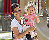 Slide Photo of Halle Berry and Nahla at the Park