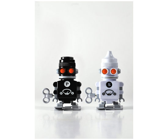Robot Salt and Pepper Shakers ($30 for pair)
