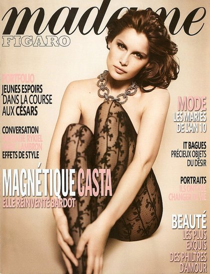 Laetitia Casta does Madame Figaro-january 2010