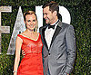 Slide Photo of Joshua Jackson and Diane Kruger Wearing a Red Gown at the Vanity Fair Oscars Afterparty in LA