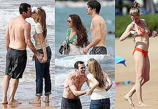 Photos of the Cast of Modern Family Filming in Hawaii, Julie Bowen Bikini and Ty Burrell Shirtless
