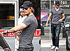 Photos of Gabriel Aubry and Nahla Wearing a White Sweater and Hat in Los Angeles Together