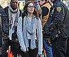 Slide Photo of Leighton Meester on Gossip Girl Set