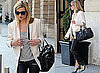 Photos of Kate Moss Style in Paris Wearing Leather Trousers and Blazer