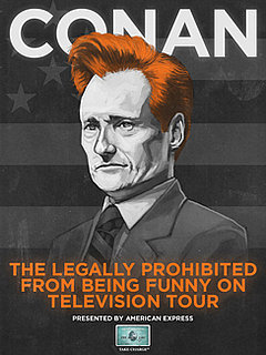 "Conan O'Brien Announces 30-Day ""Legally Prohibited From Being Funny on Television"" Comedy and Music Tour"