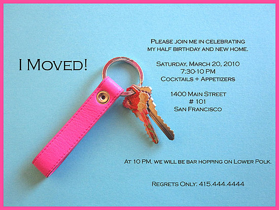 Half Birthday Housewarming Invitation