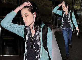 Photos of Kristen Stewart Arriving at JFK For The Runaways Premiere