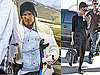 Photos of David Beckham Arriving on a Private Plane Before Surgery on His Achilles Tendon