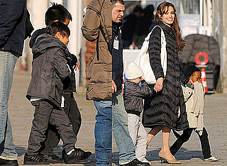 Photos of Angelina Jolie, Shiloh Jolie-Pitt, Zahara Jolie-Pitt in Venice As School She Funded in Afghanistan Opens