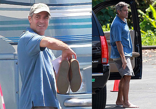 Photos of George Clooney Barefoot In Hawaii