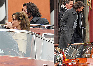 Photos of Angelina Jolie and Johnny Depp Filming The Tourist in Venice