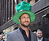 Slide Photo of Gerard Butler Wearing Green for St Patrick&#039;s Day