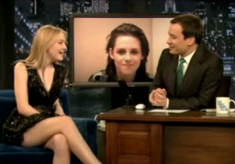 Dakota Fanning on Runaways Kiss With Kristen Stewart on Jimmy Fallon