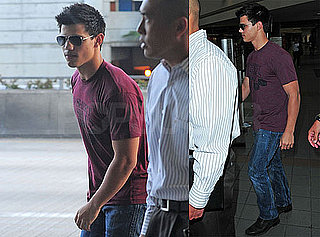 Photos of Twilight Star Taylor Lautner Arriving at LAX