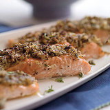 Roasted Salmon with Lemon-Herb Matzo Crust Recipe