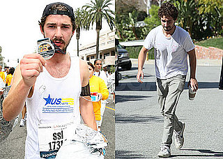 Photos of Shia LaBeouf Running the LA Marathon