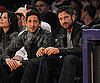 Slide Photo of Adrien Brody and Gerard Butler at Lakers Game in LA