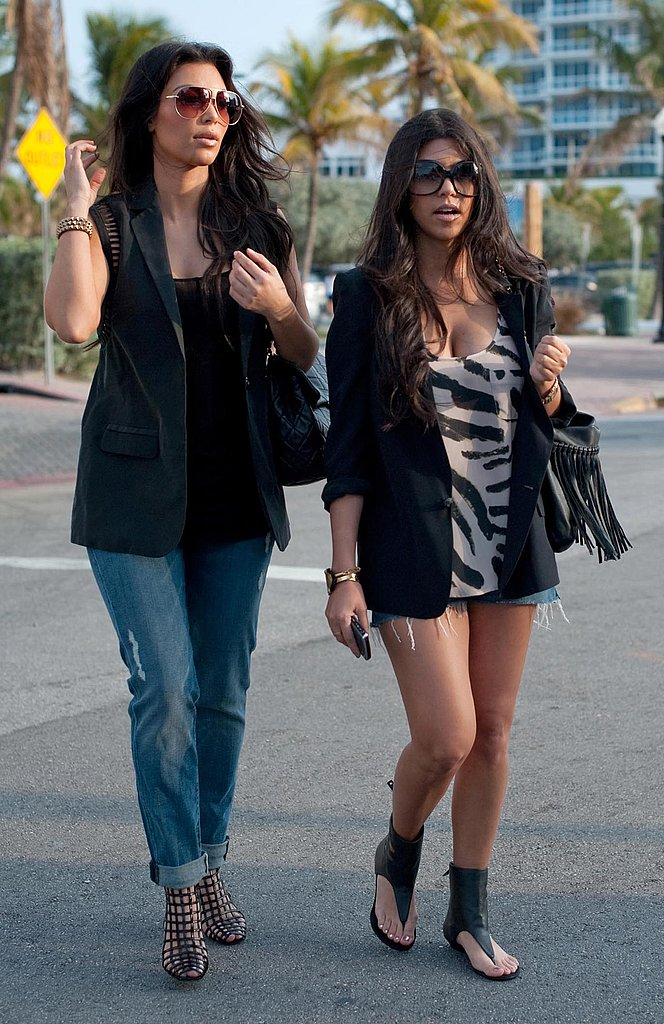 Photos of Kim and Kourtney