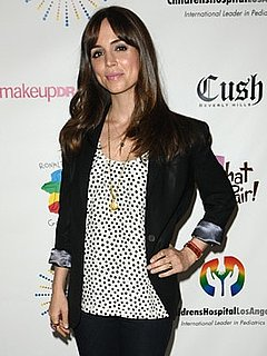 Eliza Dushku in Swiss Dot Shirt at Camp Ronald McDonald Concert in LA