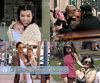 Photos of Brad Pitt, Shiloh-Jolie Pitt, Kourtney Kardashian With Mason Disick, Honor Warren With Jessica Alba